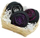 Bath Bombs Set of 3 5oz Deep Black Chasm Rose Bombs - Black Dress - Pink Sugar- Love Spell