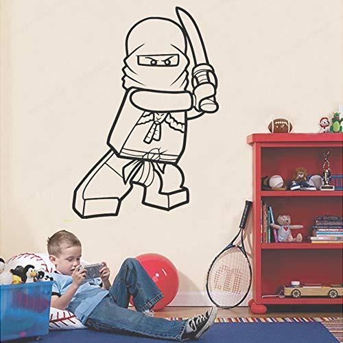 Yaonuli Vinyl Home Decor Cartoon Ninja Vinyl Muursticker afneembaar