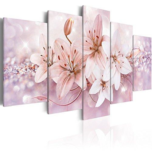 murando Cuadro en Lienzo 100x50 cm Flores Impresión de 5 Piezas Material Tejido no Tejido Impresión Artística Imagen Gráfica Decoracion de Pared b-A-0297-b-p