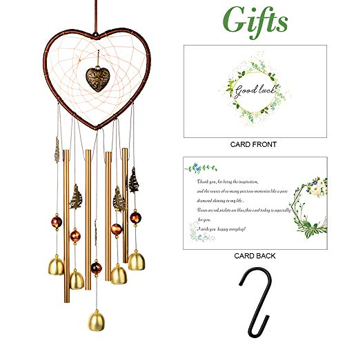 Wind chime for Outdoor(24') Windchimes Dream catcher Hanging Indoor Creative Wind Chimes Ornament Decor Chrome Hearts For girlfriend gift Home Garden Yard,Creating a sense of romance to your place