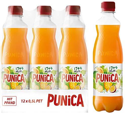 Punica Multi 17+4 – Fruchtig-frisches Multivitamin-Mehrfruchtsaftgetränk – 12 x 500ml Flasche