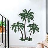 decalmile Pegatinas de Pared Palmeras Grandes Vinilos Decorativos Tropical Arbol Adhesivos Pared Dormitorio Salón Oficinas (H:123cm)
