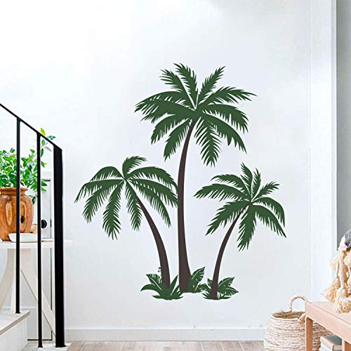 decalmile Pegatinas de Pared Palmeras Grandes Vinilos Decorativos Tropical Arbol Adhesivos Pared...