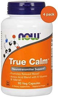 Now foods true calm 90 caps (4 Pack)