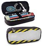 XCNGG Estuche para lápices y bolígrafos de construcción, para bolígrafo, lápiz, Samsung, Huawei, accesorios para bolígrafos, cable USB, auriculares, bolígrafo amarillo negro blanco