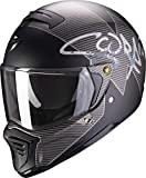 Scorpion CASCO EXO-FIGHTER TAKTIC MATT BLACK-SILVER M