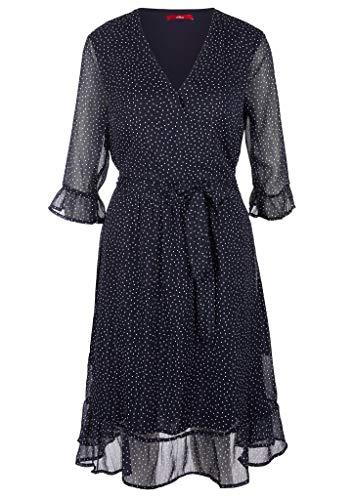 s.Oliver Damen Kleid für besondere Anlässe, navy AOP, 44