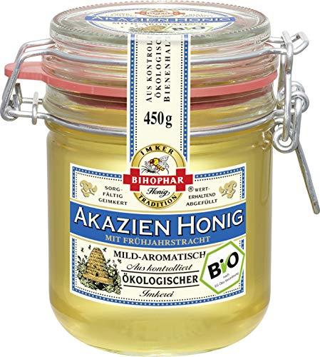 Bihophar Bio Akazien Honig mild aromatisch flüssig im Glas 450g