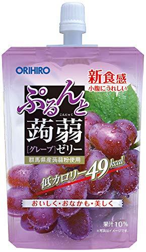 オリヒロ ぷるんと蒟蒻ゼリー 低カロリー グレープ 130g×8個 [4319]