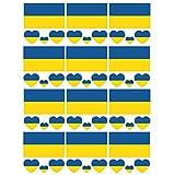 SpringPear 12x Temporär Tattoo von Flagge Ukraines für Internationale Wettbewerbe Olympischen Spiele Weltmeisterschaft Wasserfeste Fahnen Tätowierung Flaggenaufkleber Fan Set (12 Pcs)