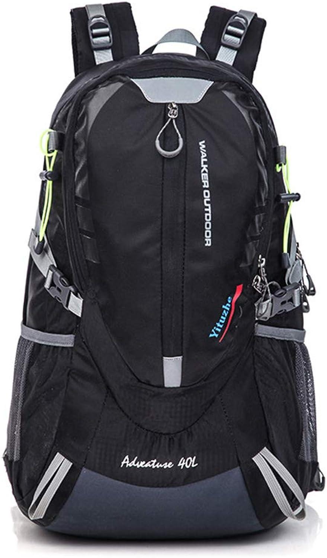 JESSIEKERVIN YY3 Ruckscke Nylon Reise Camping Klettern Wanderweg Freizeit Sport Multifunktionale Gepcktasche Neutral Geeignet für den Auenbereich (Farbe   schwarz)