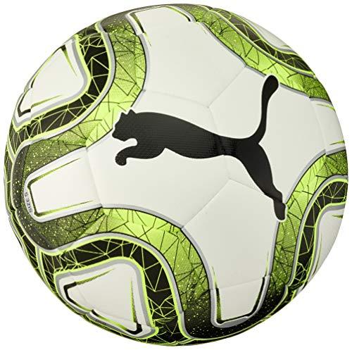 Puma Final Lite Voetbal | Trainingsbal voor jonge spelers | Gewicht: 290 gram | 100% polyurethaan | Maat 5 | Zwart/Wit/Geel
