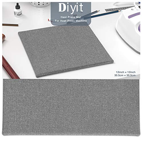 Diyit 12'x12' Heat Press Mat for Cricut EasyPress for Professional Heat Pressing/Ironing/Portable Quilting Heat Press Mat for Traveling, Camping, College