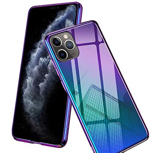 Verco Farbwechsel Hülle für Apple iPhone 11, Schutzhülle Handy Cover mit Farbverlauf Slim Hülle, Violett