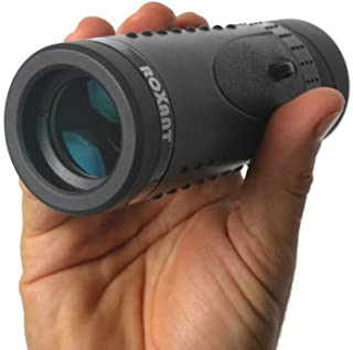 Authentic ROXANT Grip Scope High Definition Wide View Monocular - with Retractable Eyepiece and Fully Multi Coated Optical Glass Lens + BAK4 Prism. Comes with Cleaning Cloth, Case & Neck Strap.