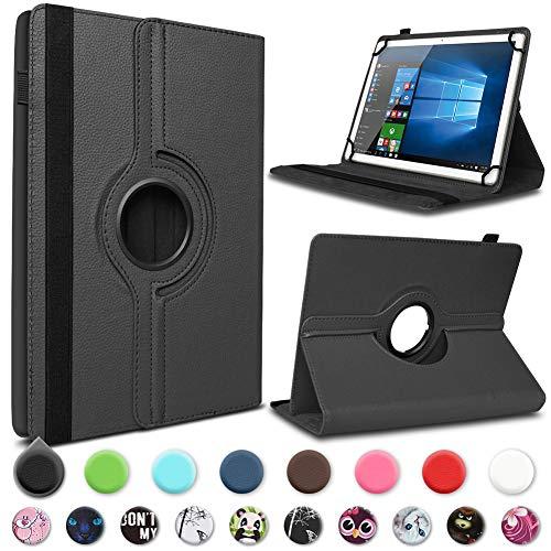 UC-Express Tablet Hülle kompatibel für Telekom Puls Tasche Schutzhülle Case Schutz Cover 360° Drehbar, Farben:Schwarz