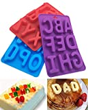 3Pcs / Set Of 26 Capital Letters DIY Mold Silicone Handmade Cake Decoration Chocolate Ice Jelly Mould Tray