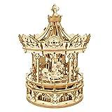 OrangeC Carillon A Carosello Carousel Horse Music Box Baby's Room Comodino Home Decor Natale Matrimonio Compleanno Decor Regalo