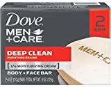 Dove Men Plus Care Deep Clean Body And Face Bar , 4.25 Oz Each, 2 Bars ( Pack of 3 )