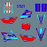 YZ 85 2015-2020 Calcomanías y Pegatinas Kit para Yamaha YZ85 Número Personalizado Gráficos de Fondo 2019 2018 2017 Pegatinas de Motocross (Color : As The Picture)