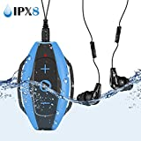 AGPTEK Reproductor MP3 Acuatico 8GB, MP3 Waterproof IPx8 con Auriculares Impermeable para Nadar, Correr (S05)