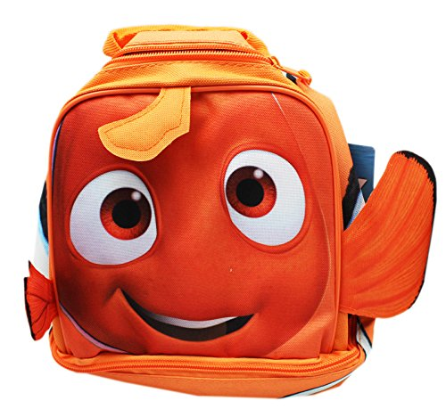 Disney Pixar's Finding Dory Nemo Orange Colored Dual Level Lunch Bag