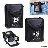 CAMKIX Explosionsgeschützte LiPo-Akku-Tasche Kompatibel mit DJI Spark (2X) - In Jede Tasche passt 1 Batterie - Gürtelschlaufe - Feuerresistente Sicherheits- und Aufbewahrungstasche