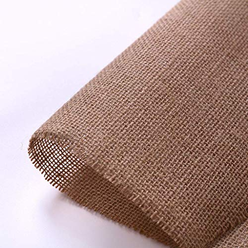 ZXL linnen, kat, klimmateriaal, stof, eettafel, sofa, decostof, stoffen tapijt, om te knutselen, stof, 3 m (kleur: natuur, grootte: 20 x 300 cm)
