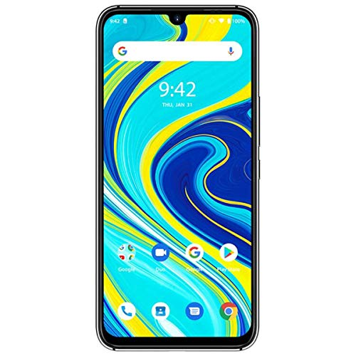 """UMIDIGI A7 Pro Unlocked Cell Phones(4GB+128GB) 6.3"""" FHD+ Full Screen, 4150mAh High Capacity Battery Smartphone with 16MP AI Quad Camera, Android 10 and Dual 4G Volte(Cosmic Black)."""