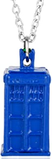 Dr. Who Necklace Book Locket - Blue Tardis Charm - Whovian Fan - Phone Booth Police Call Box - Geekery Jewelry - Geek Jewelry - Bright Blue