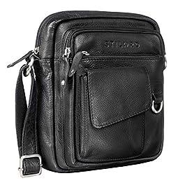 STILORD 'Ryan' Sac Croisé pour Hommes Cuir Petit Sac à Bandoulière Vintage Leather Bag Sacs Messagers pour iPad 9.7…