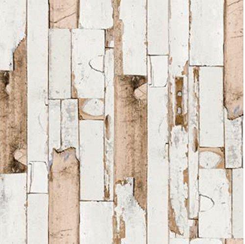 i.stHOME Klebefolie Möbelfolie altes Holz - Door grau beige braun - Dekorfolie Holzoptik 45 x 200 cm - Möbel Selbstklebefolie Holzdekor Vintage - Selbstklebende Folie