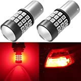 Alla Lighting BAY15D 2057 1157 LED Strobe Brake Lights Bulbs, Pure Red 7528 1154 3496 Flashing Stop Lamps Dual Filament 12V for Cars, Trucks, Motorcycles, Trailers