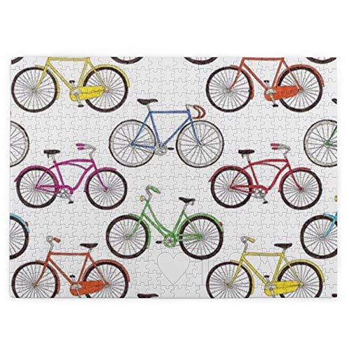 MDFE Puzzle de bicicleta de 520 piezas para regalo educativo para decoración del hogar, actividades de aburrimiento, para adultos y adolescentes