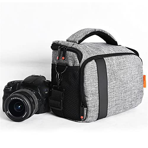 ZPDD Borsa per Fotocamera Digitale DSLR Borsa a Tracolla Impermeabile Custodia per videocamera per Canon Nikon Sony Custodia per Obiettivo Fotografica Borsa Fotografica