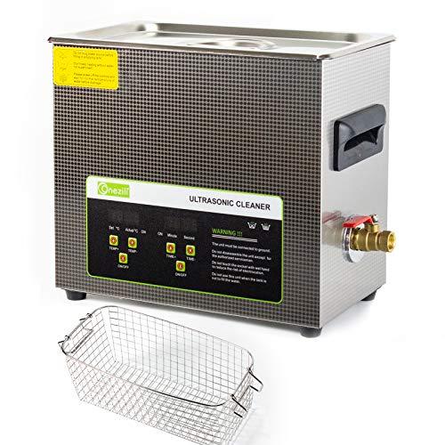 Panel de control digital 6L limpiador ultrasónico profesional, cesta y temporizador digital, para la limpieza de circuitos impresos de gran tamaño