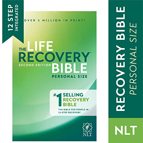 Tyndale NLT Life Recovery Bible (Personal Size, Softcover) 2nd Edition - Addiction Bible Tied to 12 Steps of Recovery for Help with Drugs, Alcohol, Personal Struggles - With Meeting Guide