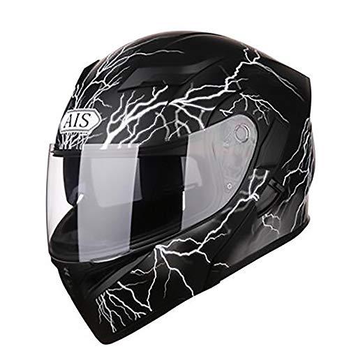 Casco de moto Patrón de rayos Casco de bicicleta for adultos Montar...