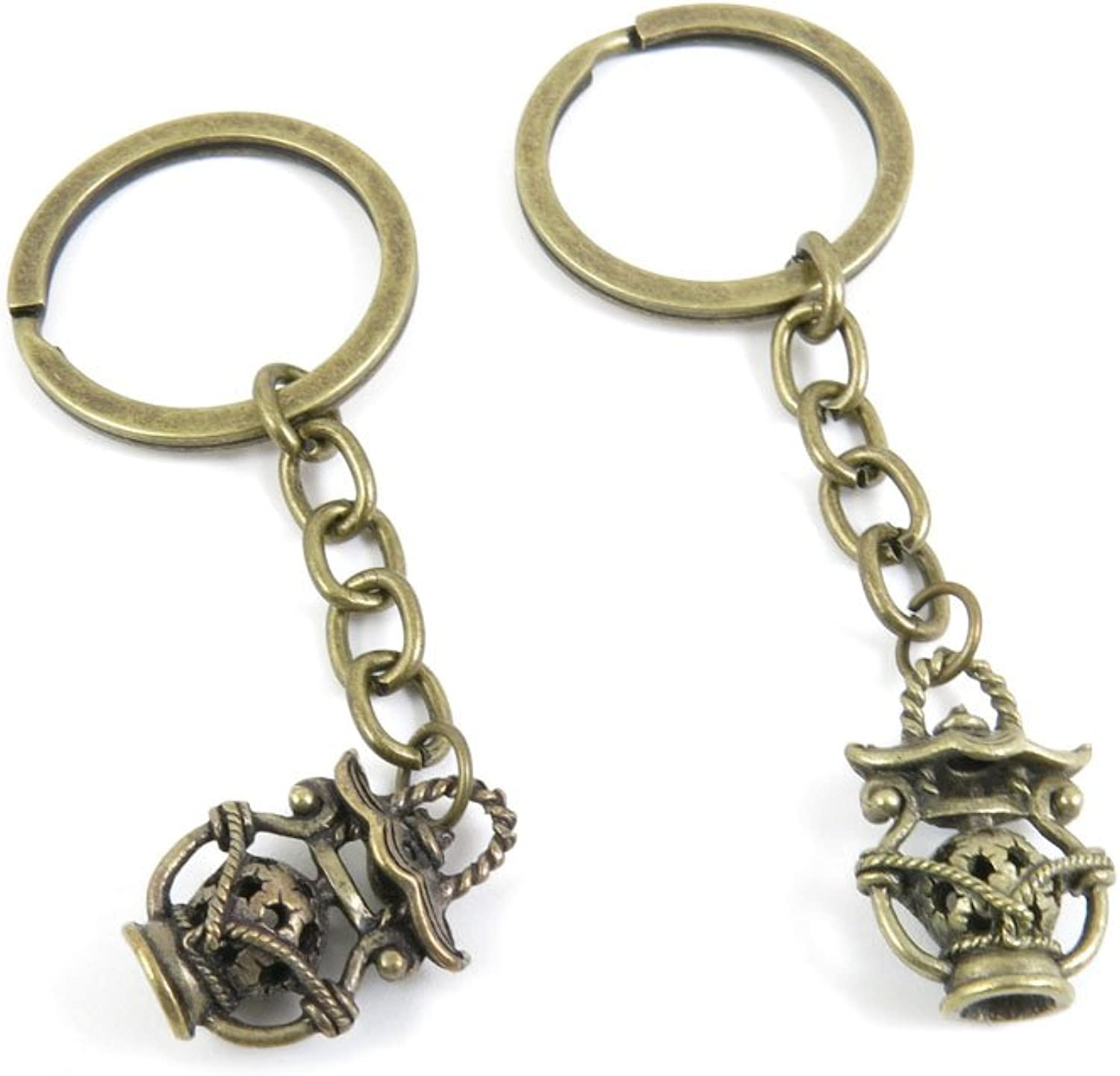 110 Pieces Fashion Jewelry Keyring Keychain Door Car Key Tag Ring Chain Supplier Supply Wholesale Bulk Lots B1UM4 Hollow Lantern