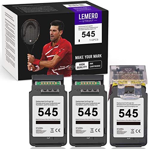 LEMEROUtrust PG-545 Ricondizionato Cartucce d'inchiostro Compatibile per Canon 545 per Canon PIXMA MX495 iP2850 MG2450 MG2550 MG2550S MG2950 MG3050 MG3051 TS205 TS305 TS3150 TS3151 Stampante(1+2 Nero)