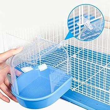 Balacoo Bain d'oiseau Cage Baignoire Accessoire pour Oiseaux, Canaries, Budgies, Perroquet