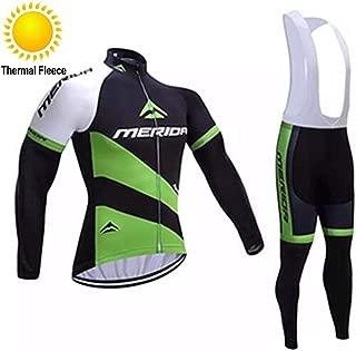 TOPBIKEB Trajes de Ciclismo de Invierno para Hombres, Jersey de Ciclismo de vellón térmico con Pantalones Acolchados de Gel para Bicicleta de montaña