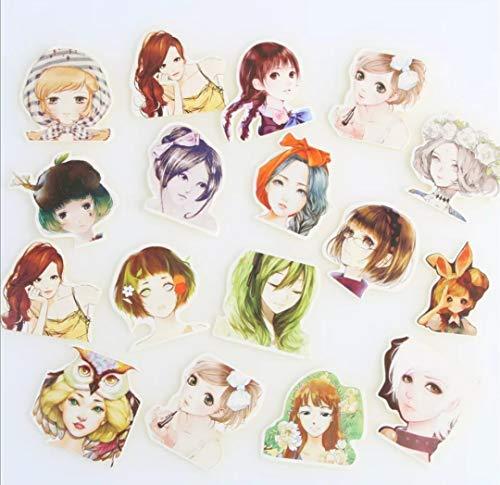 WOO LANDO 45 stuks Manga Vinyl stciker met animefiguren, waterdicht en zonder resten te verwijderen - voor notitieboeken, laptop, MacBook, bagage, skateboard auto binnen & buiten