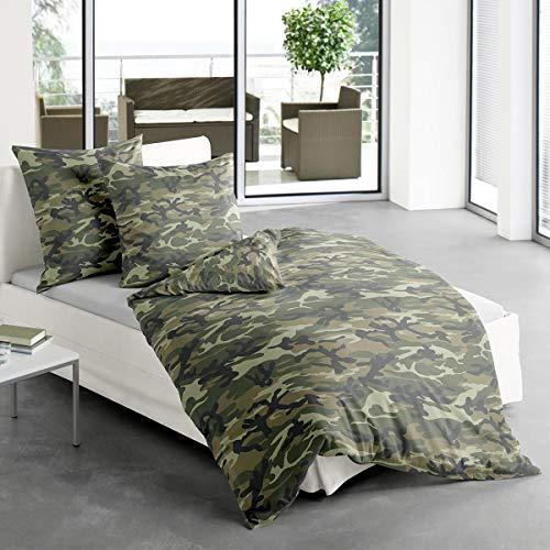 Traumschlaf Bettwäsche Camouflage 1 Bettbezug 135x200 cm + 1 Kissenbezug 80x80 cm