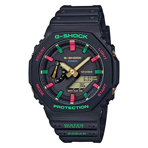 Relógio CASIO G-SHOCK masculino anadigi preto GA-2100TH-1ADR