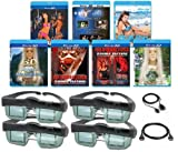 MITSUBISHI Compatible 3D Glasses Deluxe Movie Pack (Includes IR Transmitter) for ALL MITSUBISHI 3D Televisions - OUR BEST 3D VALUE EVER!
