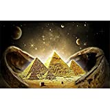 DIY Pintura Diamante 5D por Número Kit,Pirámide estrellada Diamond Painting completo Cristal Rhinestone adultos/niños Bordado Punto de Cruz Mosaico Lienzo art hogar decor de pared Gift-18x24in,45x60cm