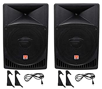 """Pair Rockville Power Gig RPG15 15"""" Powered Active 2000 Watt Speakers review"""