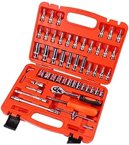 Herramienta de reparación de automóviles 46PCS 1/4 pulgadas Socket Conjunto de herramientas de reparación de automóvil Torque Torque Llave Combo Herramientas Kit de herramientas de reparación automáti