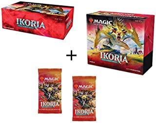 MTG Magic The Gathering Ikoria Lair of Behemoths Booster Box, Bundle, 2 Collector Packs